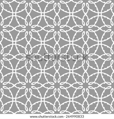 Floral Vector Geometric Background Modern Seamless Stock