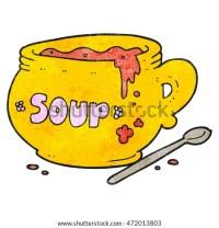 Steaming Bowl Soup Cartoon Stock Vector 89786692 ...