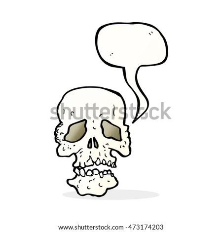 Skull Tattoo Hand Drawing On Paper Stock Illustration