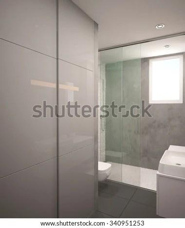 Interior Empty Apartment Corridor Marble Floor Stock Photo 444277495  Shutterstock