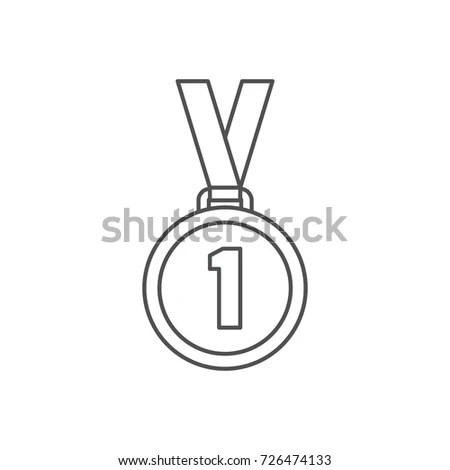 Winner Trophy Award Gold Star On Stock Vector 678432997