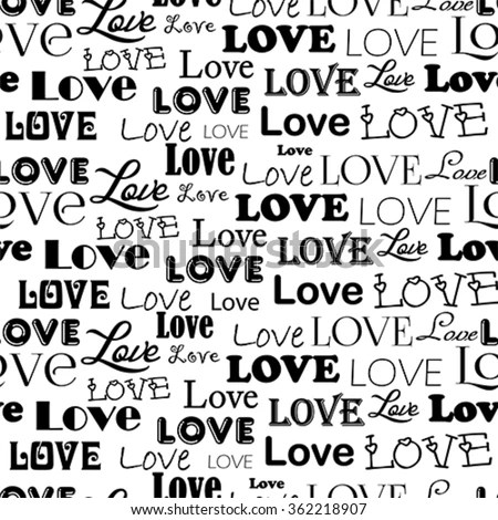 Love Words I Love You All Vectores En Stock 641905957