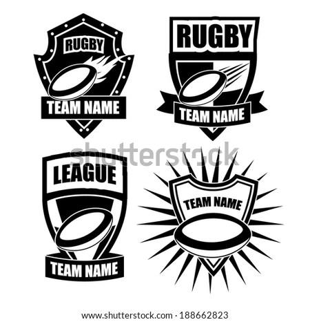 Hockey Logo Setsport Identityteamtournament Stock Vector