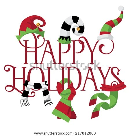 collection fun holiday hats eps