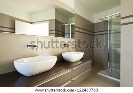 Brown Bathroom Including Bath Sink 3d Stock Photo 556196275  Shutterstock
