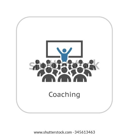 Business Coaching Concept Icon Leadership Training Stock