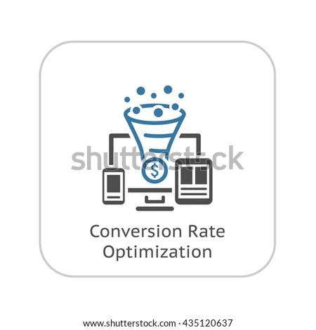 Conversion Rate Optimization Icon Business Concept Stock