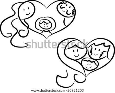 Colorful Cartoon Doodle Illustration Happy Smiling Stock