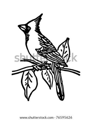 Hummingbird Silhouette Isolated Vector Stock Vector