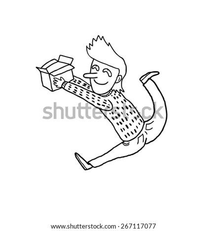 Illustration Girl Running Late School Stock Vector