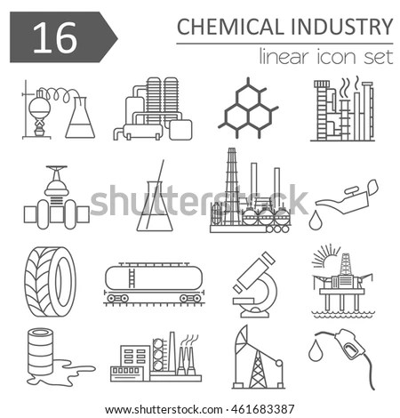 Simple Set Oil Related Vector Line Stock Vector 560970703