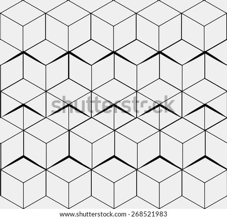 Geometric Seamless Simple Monochrome Minimalistic Pattern
