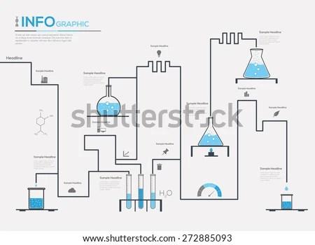 Web Design Chemistry Process Vector Illustration Stock