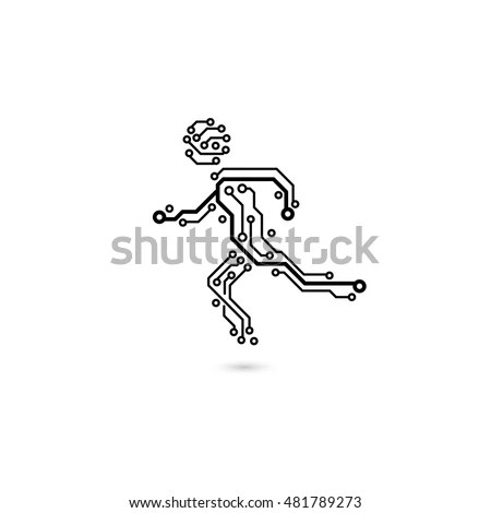 Vector Seamless Electrical Circuit Diagram Pattern Stock