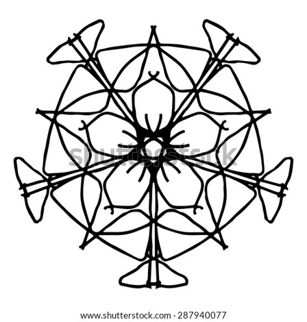 Gothic Rosette Window Pattern Vector Illustration Stock