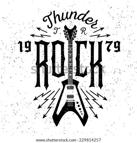 Rock Festival Poster Rock Roll Sign Stock Vector 572996620