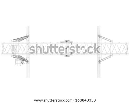 Railroad Overhead Lines Contact Wire Vector Stock Vector