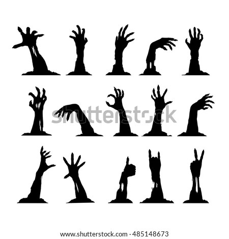 Halloween Night Background Tree Blank Sign Stock Vector