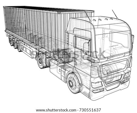 Car Showroom Exterior Design Sketch Hand Stock Vector