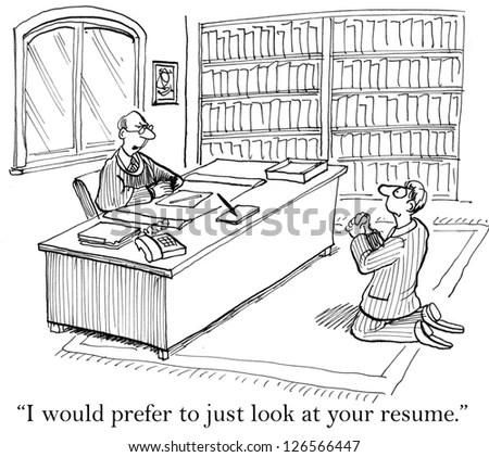 Impressive Resume Series Acquittals Stock Illustration