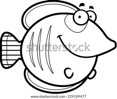 Vector Illustration Snail Cartoon Coloring Book Stock