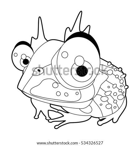 Cute Vector Cartoon Reptile Collection Colorful Stock
