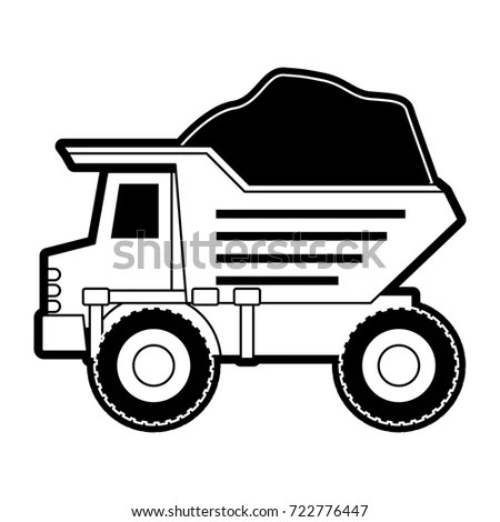 Combine Harvester Field Symbol Contains Draw Stock Vector
