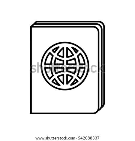 Passport Identification Tourist Shadow Vector Illustration
