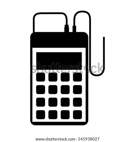 Isolated Calculator Device Design Stock Vector 533818666