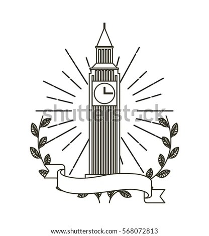 Lighthouse Nautical Vector Illustration Stock Vector