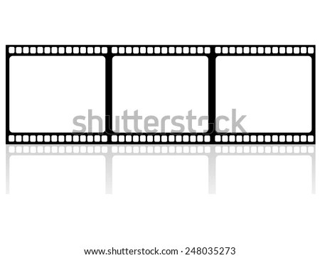 Film Strips Hanging Out Dry Stock Vector 47516881