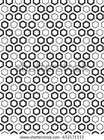 Vector Seamless Halftone Honeycomb Gradient