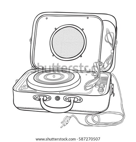 White Line Made Dj Set Black Stock Illustration 52746175