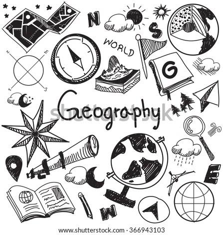 Geography Geology Education Subject Chalk Handwriting