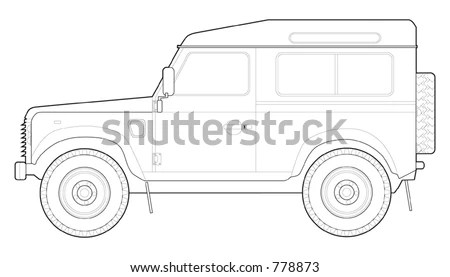 Land Rover 110 County Station Wagon Stock Vector 357470