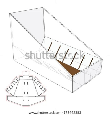 Triangular Box Die Cut Template Layout Vectores En Stock
