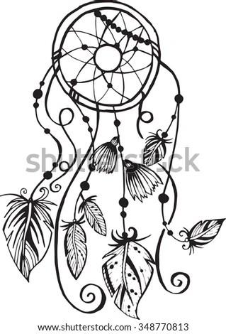 Native American Pattern Round Ornament Stock Vector