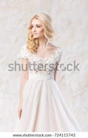fashionable gown beautiful blonde