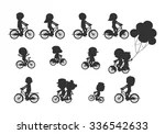 Set Of Diverse Bicyclists...