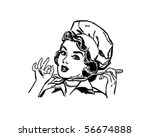 Retro Pinup Lady Art Collage Cook Free Stock Photo