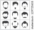 beard styles stock vector illustration