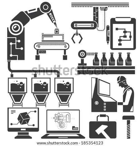 Manufacturing Engineering Icon, Manufacturing, Free Engine