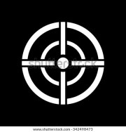 aim bag icon. crosshair
