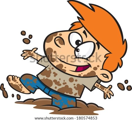 Image result for cartoon pics of children playing in puddle of water