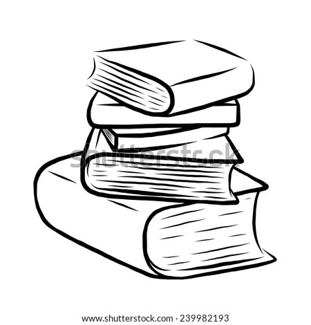 Cartoon Stack Of Books Stock Photos, Images, & Pictures