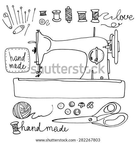 Embroidery Machine Stock Vectors & Vector Clip Art