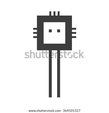 Microprocessor Schematic Symbol, Microprocessor, Free