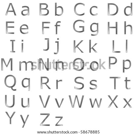Upper and lower case letters Stock Photos, Images