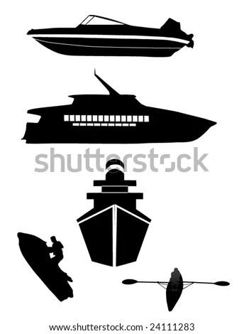 Ski Boat: Ski Boat Silhouette