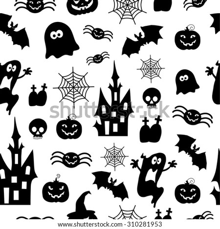 Haunted House Silhouette Stock Vectors & Vector Clip Art